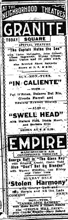 An Ad Showcasing The Partnership Between the Granite Square and Empire Theatres
